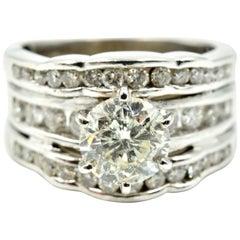 Round Brilliant 1.25 Carat Diamond Wedding Set with Diamond Mounting