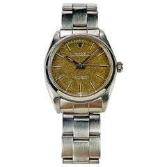 Rolex Stainless Steel Oyster Perpetual Tropical Dial Watch, 1960s