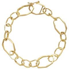 18 Karat Gold Handmade Link Bracelet