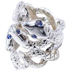 Four Head Snake Ring Tanzanite Silver J DAUPHIN