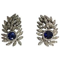 Saphir und Diamanten Ohrringe