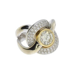 Diamond White and Yellow Gold Ring