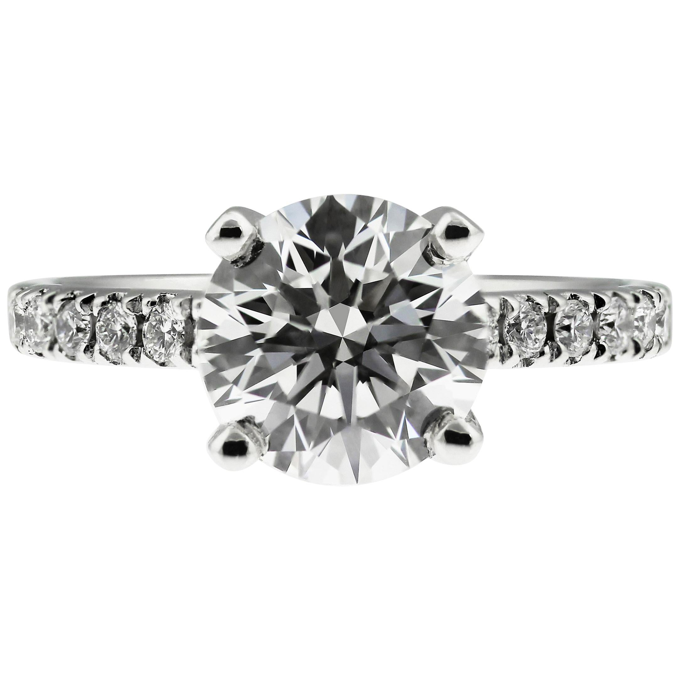 GIA Diamond 2.2 Carats G VS1 Single Stone Solitaire Engagement Ring