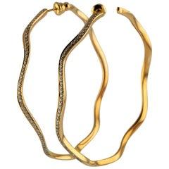 1.00 Carat Diamond 18 Karat Rose Gold Çintemani Earring
