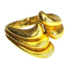 "Maramenos & Pateras ""waves"" Ring 18 Karat Gold 1980s"