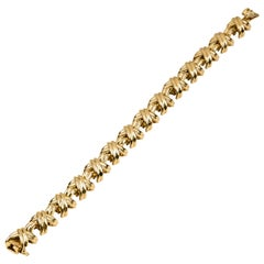 Tiffany & Co. Signature X Design Bracelet in 18 Karat Yellow Gold