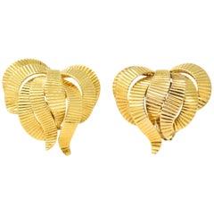 Cartier France Retro 18 Karat Gold Ear-Clips Earrings