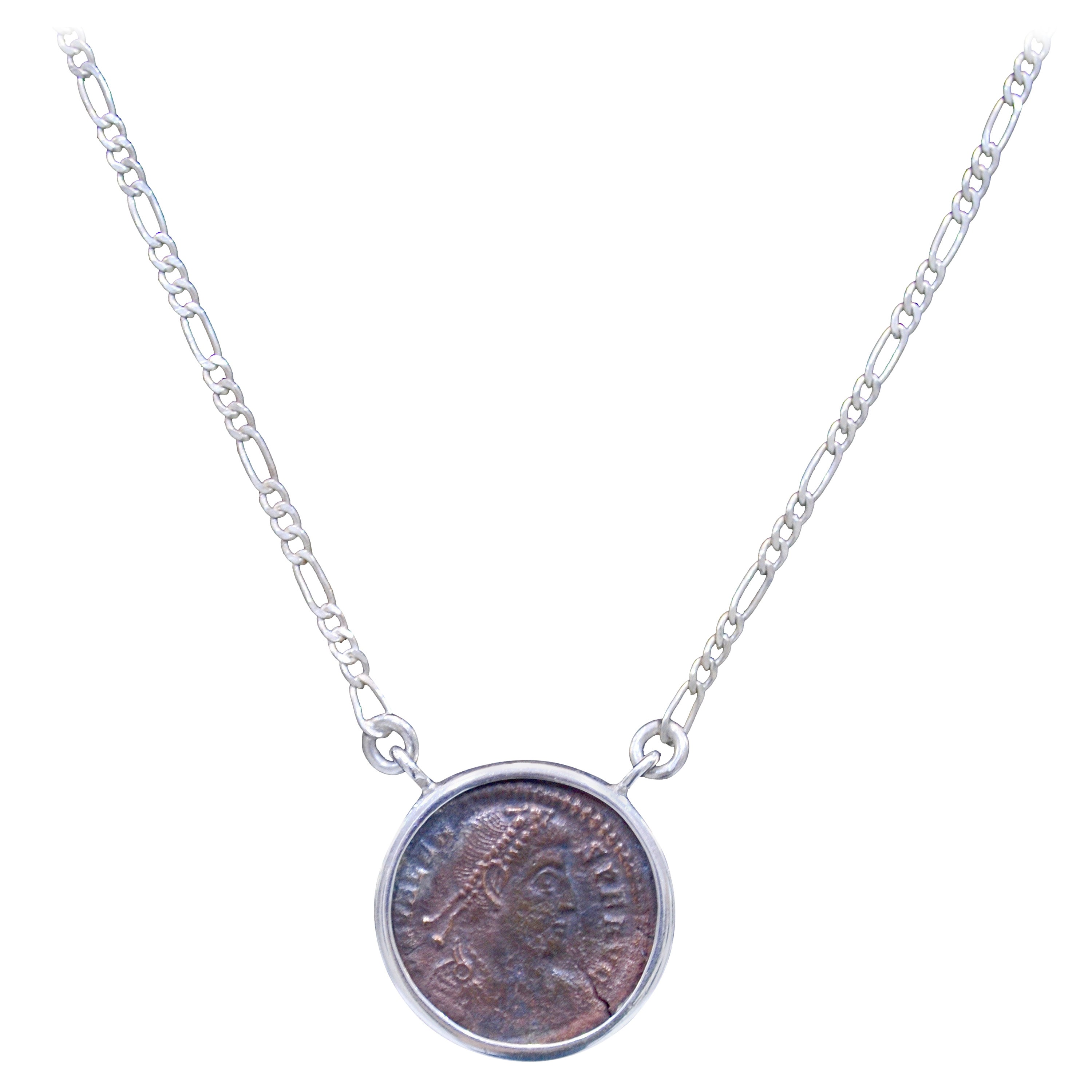 ef18aee51 Constantine The Great Coin Silver Necklace at 1stdibs