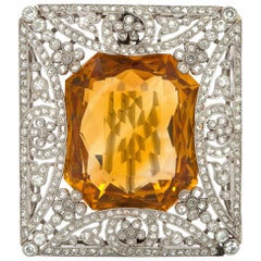 14 Karat Yellow Tourmaline Cartier Brooch or Pin