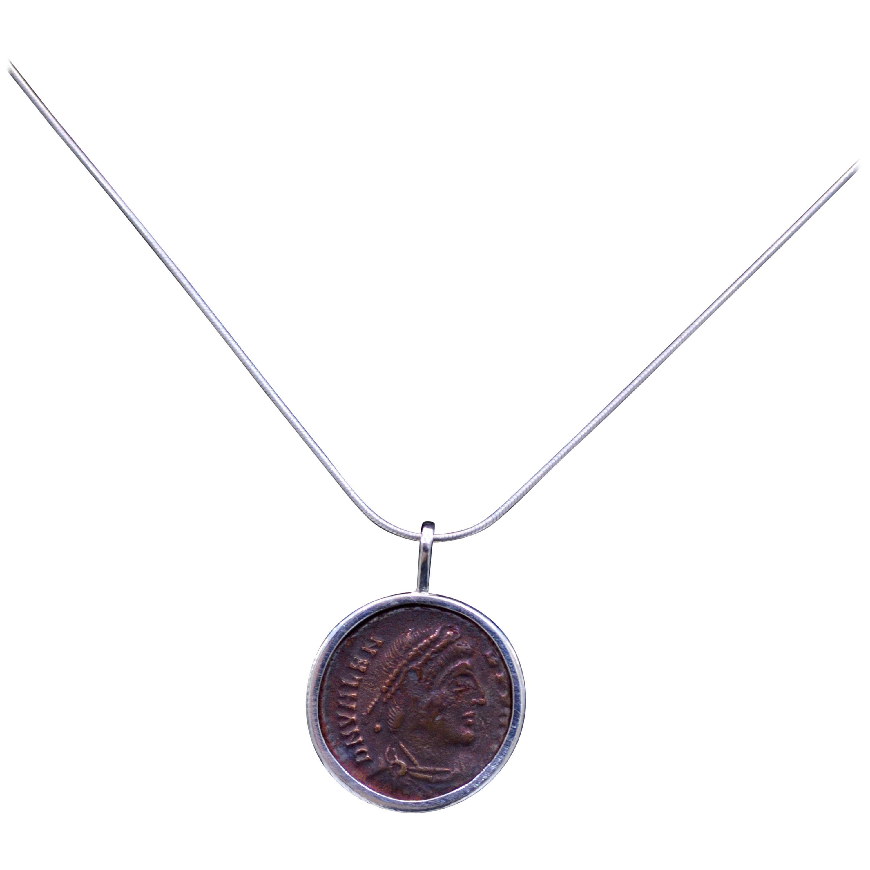 Valens Coin Silver Necklace