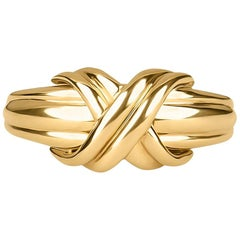 Tiffany & Co. Signature X Ring in 18 Karat Gold