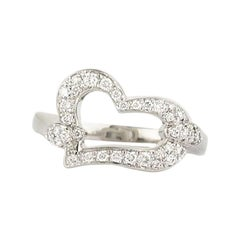 Piaget Diamond Set Heart Ring .31 Carat