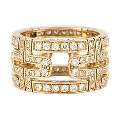 Bulgari Parentesi Ring Diamond and Rose Gold 1.65 Carat