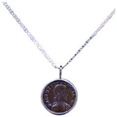 Constantius II Coin Silver Necklace