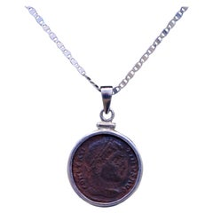 Constantine the Great Coin Silver Necklace