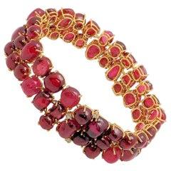 Handmade Red Spinel Bracelet
