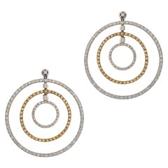 1.56 Carat Circular Diamond Earrings