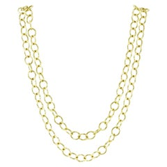 Temple St. Clair 18 Karat Yellow Gold Classic Round Chain with Tags