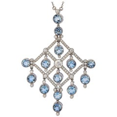 Tiffany & Co. Platinum Aquamarine Necklace