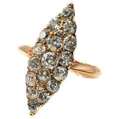 Victorian Old European Cut Diamond Princess Ring