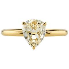 Vintage Pear Shape Engagement Ring