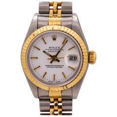 Lady Rolex Datejust Stainless Steel and 18 Karat Gold Ref 79173, circa 1998