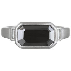 Faye Kim Platinum Bezel Set Diamond Ring