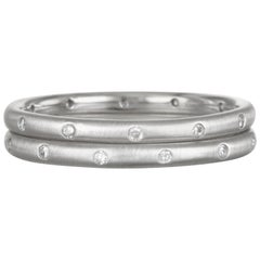Faye Kim Platinum Diamond Eternity Band Ring