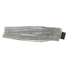 40 Carat of Diamonds on 14 Rows of Tennis Bracelet in 18 Karat White Gold