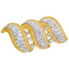 Diamond Clip or Brooch with Fine Diamonds, circa 1960