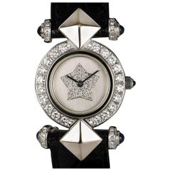 Kutchinsky Dress Watch Ladies White Gold Silver Dial Diamond Set Quartz Watch