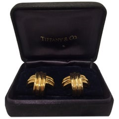 Tiffany & Co. 18 Karat Yellow Gold Cross Earrings