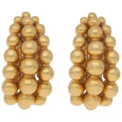 Boucheron Grains de Raisin Gold Clip Earrings