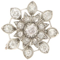 Victorian Diamond Star Brooch Pendant