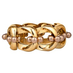Bulgari 1940s Machine Age Gold Bracelet