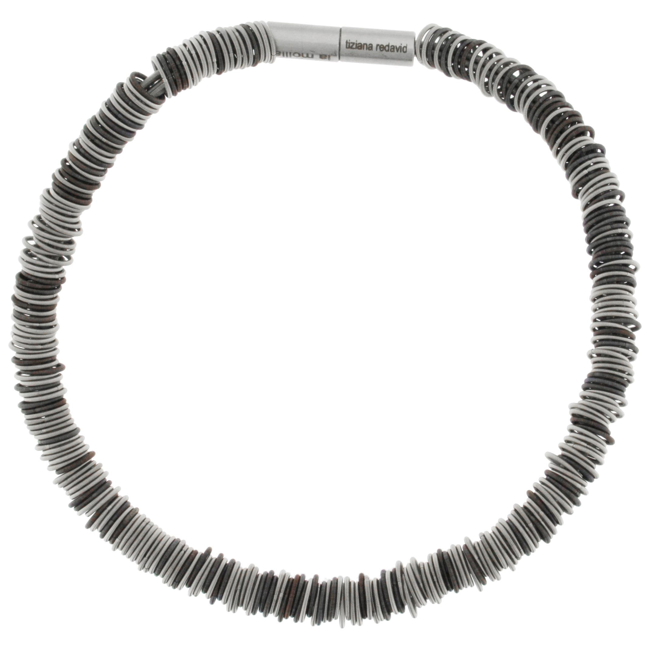 Tiziana N1 Stainless Steel Spring Choker Necklace