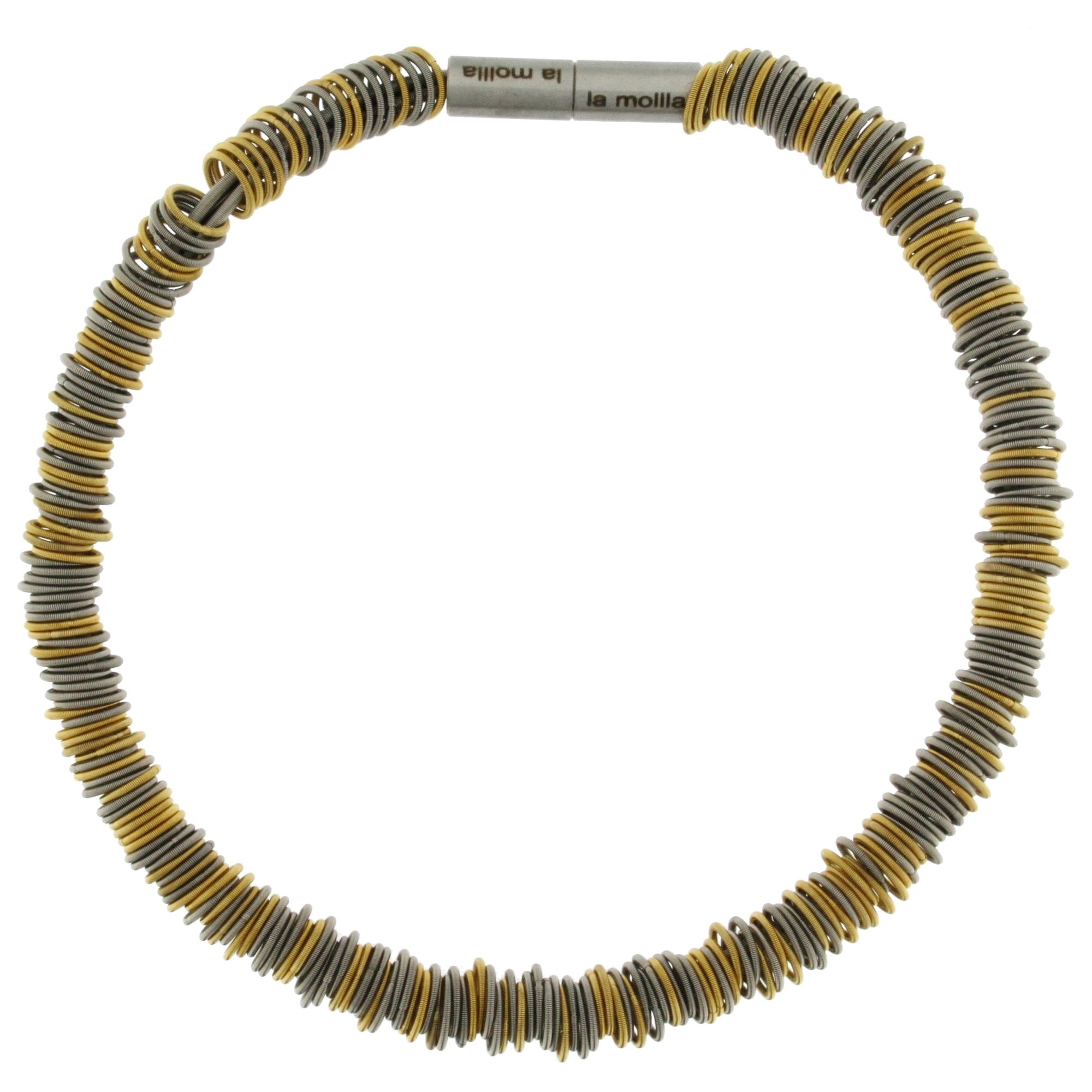 Tiziana N1 Stainless Steel Spring Gold-Plated Choker Necklace