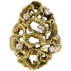 1960s Yellow Gold Diamond Arthur King Spirit Ring