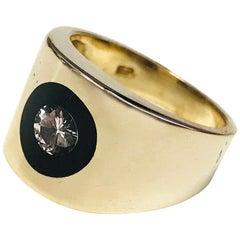 Incogem Floating Diamond Lucite Ring - Size 7