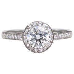 Tiffany & Co. Embrace Platinum Diamond Engagement Ring 1.10 Carat E IF