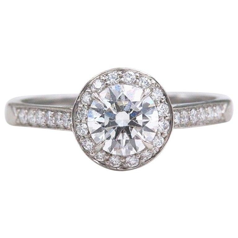 6017fc4f4 Tiffany & Co. Soleste Platinum Diamond Engagement Ring 1.10 Carat E IF For  Sale
