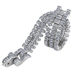 Boucheron Paris Midcentury Diamond Platinum Bracelet