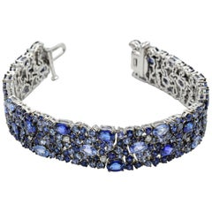 Robert Procop American Glamour Bracelet - Dark and Light Blue Sapphire in 18k