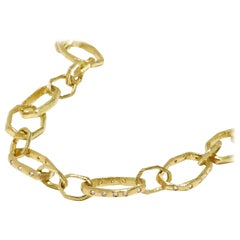 18 Karat Gold Handmade Link Necklace