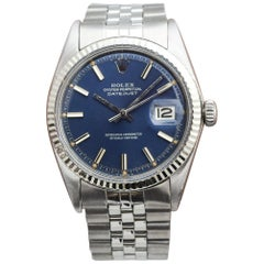 Rolex Datejust Reference 1601 with a Blue Dial, 1971