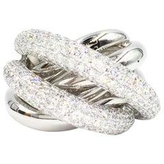 Bessa 18 Karat White Gold Multi-Row Diamond Ring