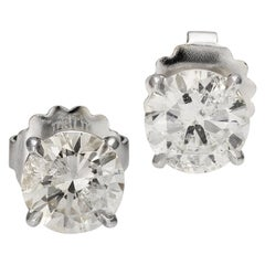 4.06 Carat Diamond Stud Earrings