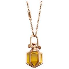 Modern Sacred Minimalism 18 Karat Gold Talisman Amulet Necklace