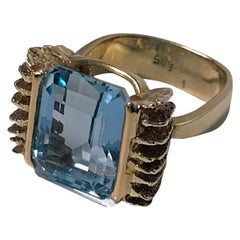 1960s Aquamarine Gold Ring