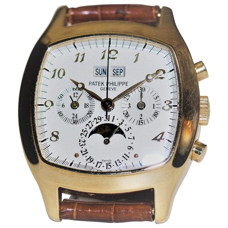 Patek Philippe 5020J Perpetual Calendar Chronograph Watch 'TV Screen' For Sale